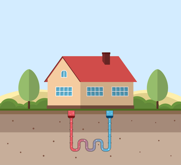 geothermal heating from underground